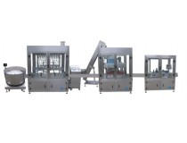 Production Line of Filling, Capping and Self-Adhesive Labeling for Ordinary Meterials